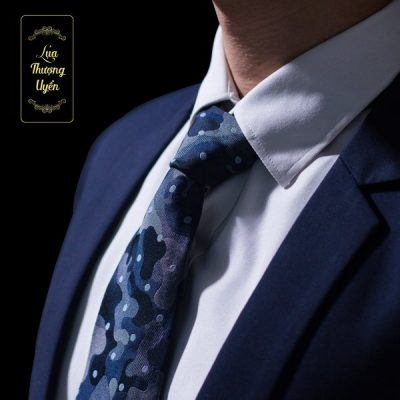 Cà Vạt Lụa Thượng Uyển bản to CT14