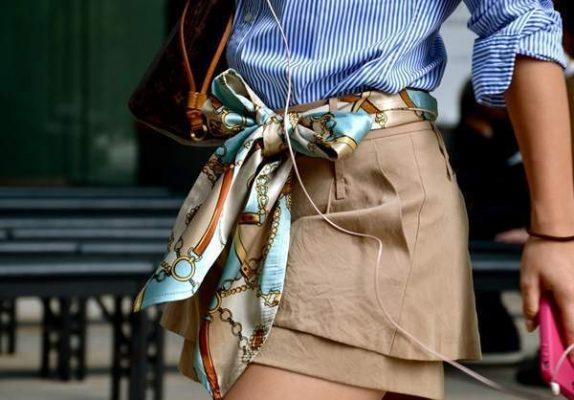 Thắt lưng khăn lụa hiện đại